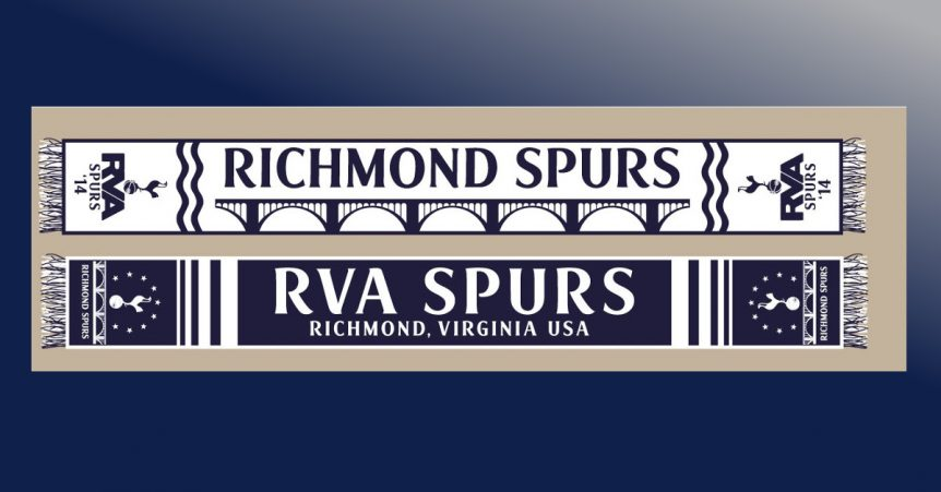 richmond spurs supporters scarf